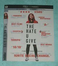HATE U GIVE, HITMAN'S BODYGUARD  4K Blu ray slipcover