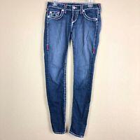 True Religion Women's Skinny Jeans Size 28 Blue Stretch 62K