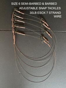 5 x 30LB ESOX 7 STRAND PIKE  - ZANDER SNAP TACKLE-  ADJUSTABLE TRACES FREE P&P
