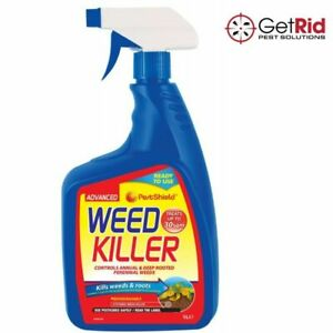Tough Weedkiller Spray Advanced Kills Weeds Roots Ready To Use Garden Paths