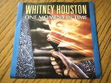 """WHITNEY HOUSTON - ONE MOMENT IN TIME  7"""" VINYL PS"""