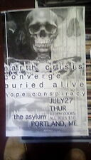 Earth crisis converge buried alive hope conspiracy concert poster flyer asylum â™»
