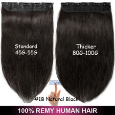 100G Real Remy Clip in Human Hair Extensions One Piece 3/4 Full Head Invisible