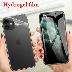 For Apple iPhone 11 Pro Max XR Xs 8 7 Front+Back Hydrogel Screen Protector Film