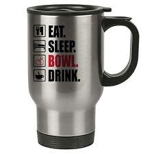 eat sleep Ciotola - TENPIN TERMICA TAZZA DA VIAGGIO - acciaio inox - Bowling,