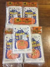 Vintage Halloween Trick-Or-Treat Bags 1988 5 Packs Of 40 Count 200 Bags