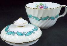 Minton ARDMORE IVORY TURQUOISE Cup + Lid for Sugar Bowl S363 GREAT CONDITION