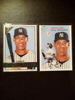 2020 Topps Gallery Aaron Judge Heritage Insert & Base Card New York Yankees