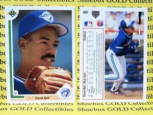 DEREK BELL, Toronto Blue Jays, 1991 Upper Deck 10-Card Lot #26F, HIGH GRADE