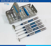 Soft Brushing Kit Set Of 5 With Cassette Dental Implant Surgery Instruments