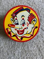 "Vintage Kirchhof Tin Toy Noise maker, ""Life of the Party"" Clown. Halloween"