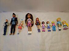 Mixed Lot Small Plastic Dolls Princess Disney Barbie Figures - Lot of 10