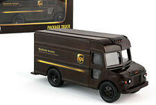 Ups maqueta de coche 1:50 package Truck paquete carro Grumman Olson aufziehwagen rt4349