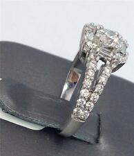 14K Solid White Gold Baguette & Round Cut Diamond Ring 1.00 Carat Total Weight.