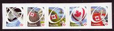 Canada 2011 Ocanada Permanent Timbres Bande de 5 non Montés Excellent État