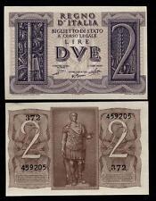 2  Lire 1939 Dittatura Fascista  FDS !!