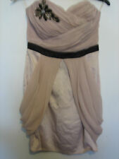 WOMENS LIPSY CREAM AND SEQUIN DECORATION DRESS  SIZE 8