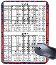Hiragana y Katakana japonés Alfabeto Mouse Mat. aprendizaje de idiomas Mouse Pad