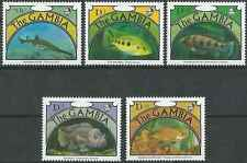 Timbres Poissons Gambie 1052/6 ** lot 19788