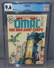 OMAC #5 (Jack Kirby story, cover art) CGC 9.6 NM+ White Pages DC Comics 1975
