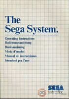 SEGA Master System I: Owners Instruction Manual - The SEGA System / Console