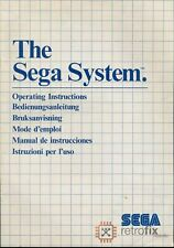 SEGA Master System I: Owners Instruction Manual - The SEGA System / Console