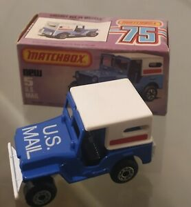 Vintage 1979 Matchbox 75 Superfast Jeep U.S. Mail Truck No.5 New in Box!