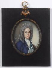 """Portrait of an early-18th-century aristocrat"", miniature, ca. 1900"
