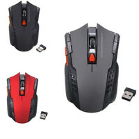 Portable Optical Wireless Mouse Adjustable PC Gaming Computer Laptop Accessories