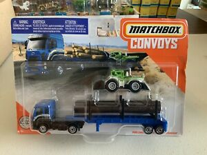"""Matchbox Convoys Ford Cargo & Logger Bed """"Sequioa"""" Tampo New In Blister"""