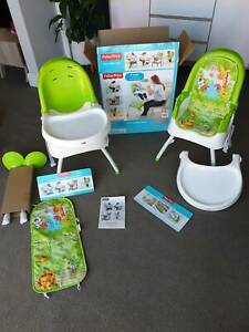 Fisher Price 4 in 1 High Chairs x1 - 1 Part used and 3 parts brand new