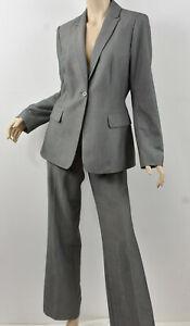 CALVIN KLEIN Heather Gray One-Button Blazer & Pant Seasonless Suit Set M 8