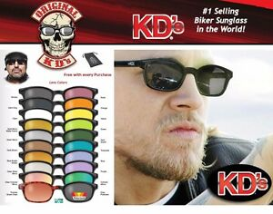 KD's Original Biker Riding Glasses Sunglasses -