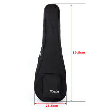 Kmise Baritone Gig Bag 30 inch Soft Carring Case for Ukulele Guitar Double Strap