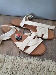 DOROTHY PERKINS COMFORT Flat Strappy Sandals Size UK5