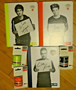 One Direction Office Depot LOUIS Zayn Liam Composition Books & Wahsi Tape NEW