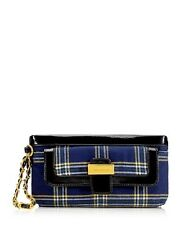 $128 New Juicy Couture Derby Wristlet Clutch Purse Wallet Eton Plaid