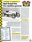 Opel Grand Prix 1913 GERMANY Allemagne Course & Formule 1 Car Auto FICHE FRANCE