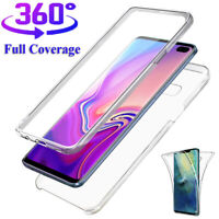 For Samsung Galaxy Note10 9 S10 Plus Full Cover 360° Clear Slim Rubber Soft Case
