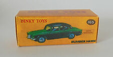 REPRO BOX DINKY n. 165 Humber Hawk verde e rosso scuro/beige