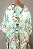 Antique Chinese Qing Dynasty Silk Embroidered textile Jacket Robe