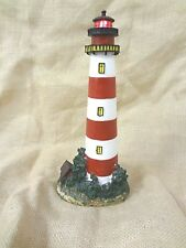 """Red & White Collectors Battery Operated Resin 12.5"""" inch American Lighthouse"""