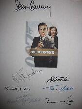 Goldfinger Signed Film Script X7 James Bond Sean Connery Honor Blackman reprint
