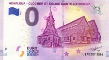 14 HONFLEUR Clocher et église Sainte-Catherine, 2019, Billet 0 € Souvenir