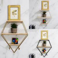 Metal Wall Hanging Shelf Display Rack Storage Holder Floating Shelves Home  C