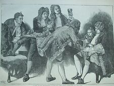 ANTIQUE PRINT C1875 LADY MARY WORTLEY MONTAGU AND THE KIT-KATS ENGRAVING LONDON