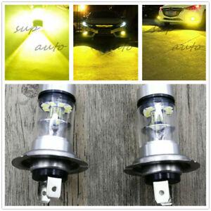 Super Bright Premium H7 3000k yellow 55W CREE LED Fog Light Conversion Bulbs Kit