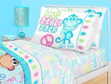 American Kids Collection Full Sheet Set Monkey Love, Peace & Rock N Roll