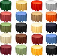 """Plain Tablecloth Clean Round Circular Table Cloth 173cm Round 68"""""""