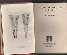 THE ARCHAEOLOGY OF SURREY by WHIMSTER 1931 1st ed